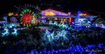 The fantastic Christmas Lights display at the Harrison residence in Canberra